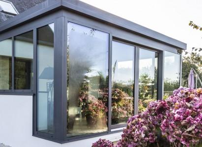 Conception d\'une extension vitrée en aluminium à Guisseny (29)